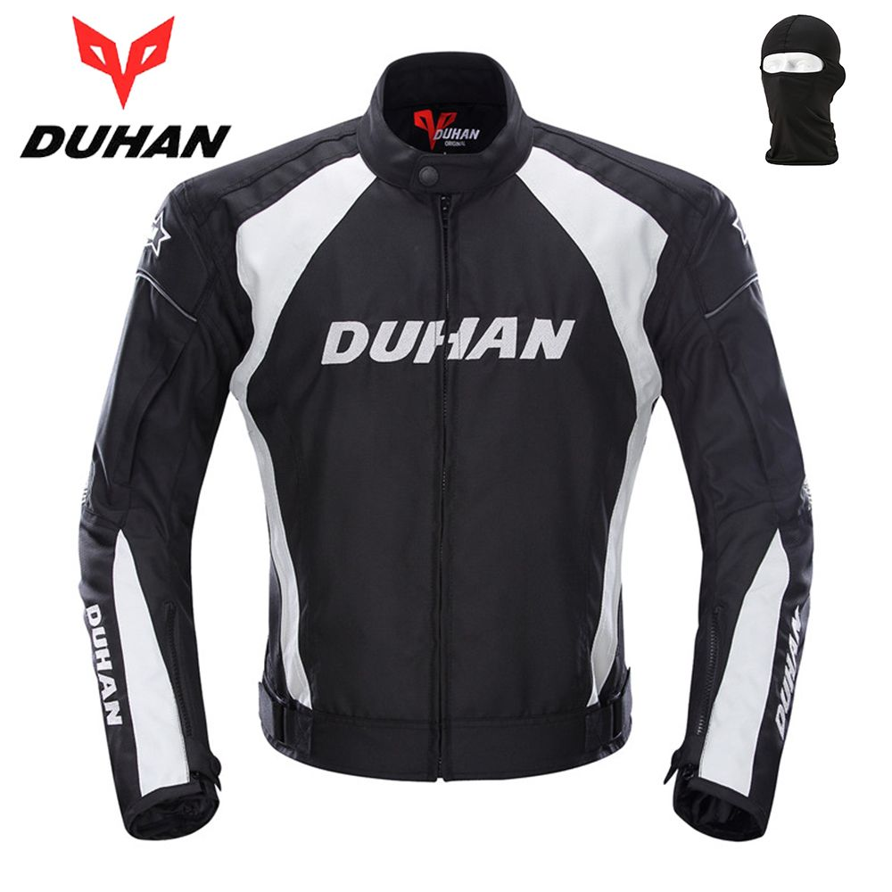DUHAN Motorcycle Jacket Racing Sports Jacket Clothing with Five Protector Breathable Waterproof and Windproof Laminated Fabric