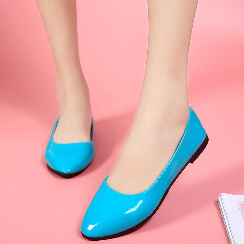 2017 г. Новые Модные женские неглубокие туфли-лодочки женский Vogue Леди Лидер продаж обувь на плоской подошве Большие размеры EUR size35-42