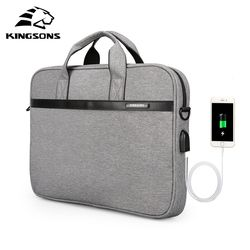 Kingsons Waterproof High Quality Laptop Handbag for 12 13 14 15 Inch Computer Bussiness Travel Men and Women Notebook Bag 2019