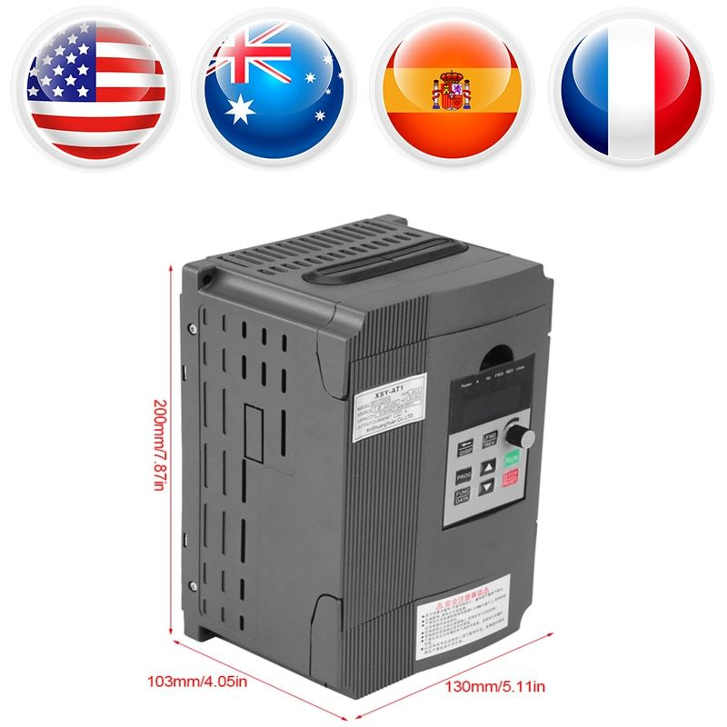3-phase 2.2kW AC Motor Variable Frequency Inverter Drive Inverter VSD VFD Universal Motor Speed PWM Control Inverters