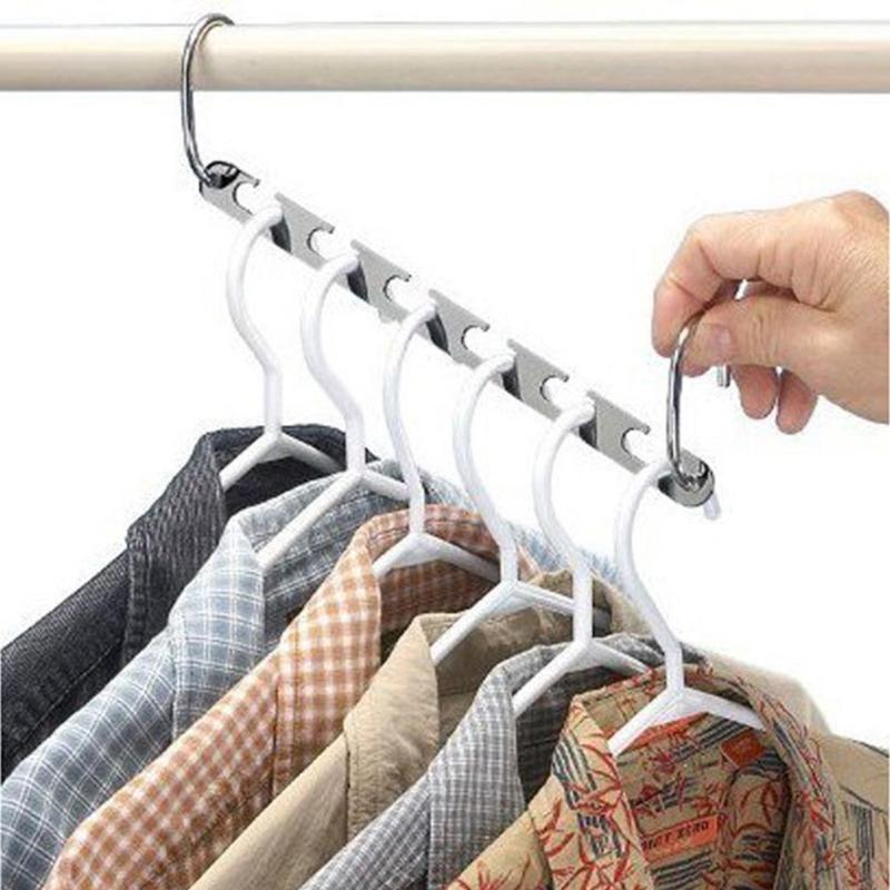 2Pcs/4Pcs Clothes Closet Hangers Shirts Tidy Hangers Save Space Clothing Organizer Multifunction Practical Racks
