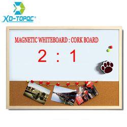 XINDI 30*40 см комбинированная доска пробковая доска Комбинированная деревянная рамка магнитная доска с бесплатным маркером ручки Бесплатная д...