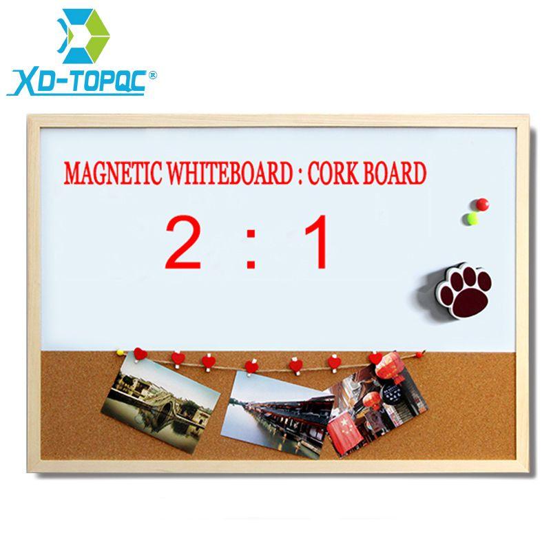 XINDI 30*40 cm combinaison tableau blanc panneau de liège combinaison cadre en bois tableau blanc magnétique avec marqueurs gratuits livraison gratuite