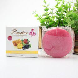 3 piezas Bumebime jabón hecho a mano blanco jabones naturales para blanquear la piel baño y cuerpo funciona fruta jabón de aceite esencial 100g