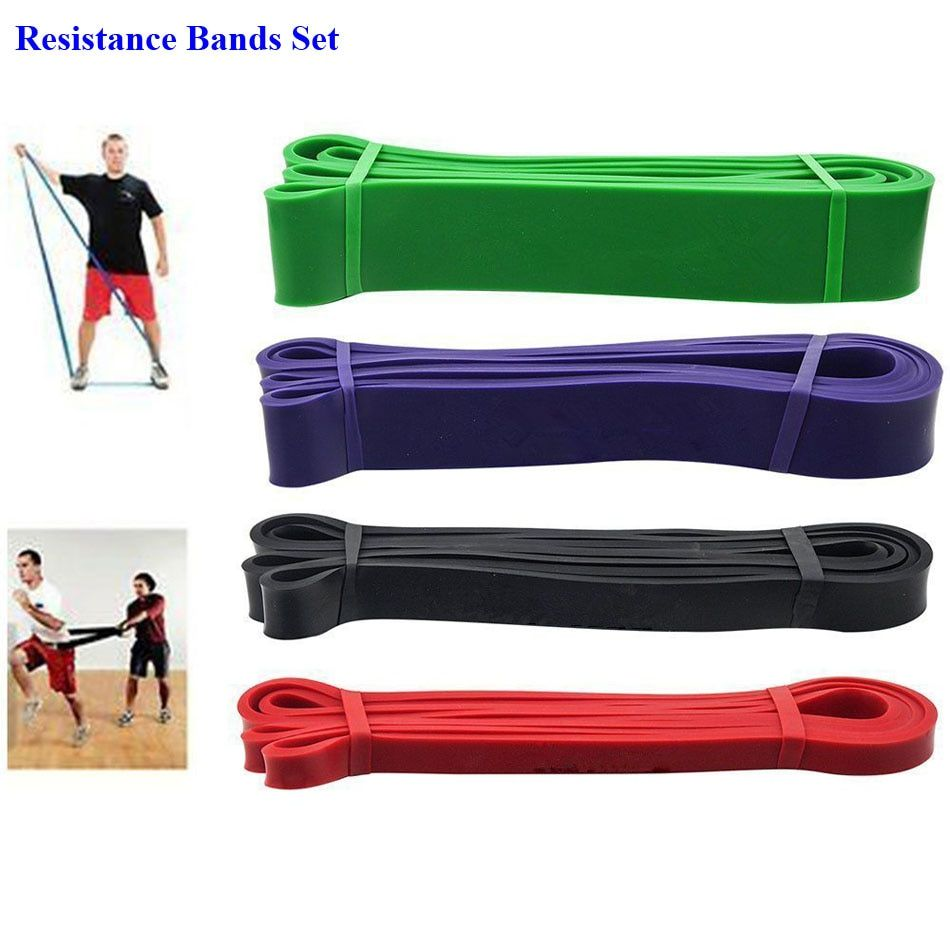 1 Set Natural Latex Rubber Elastic Fitness Resistance Bands Crossfit Strength Power Lifting Pull Up Gym Training Resistance Band