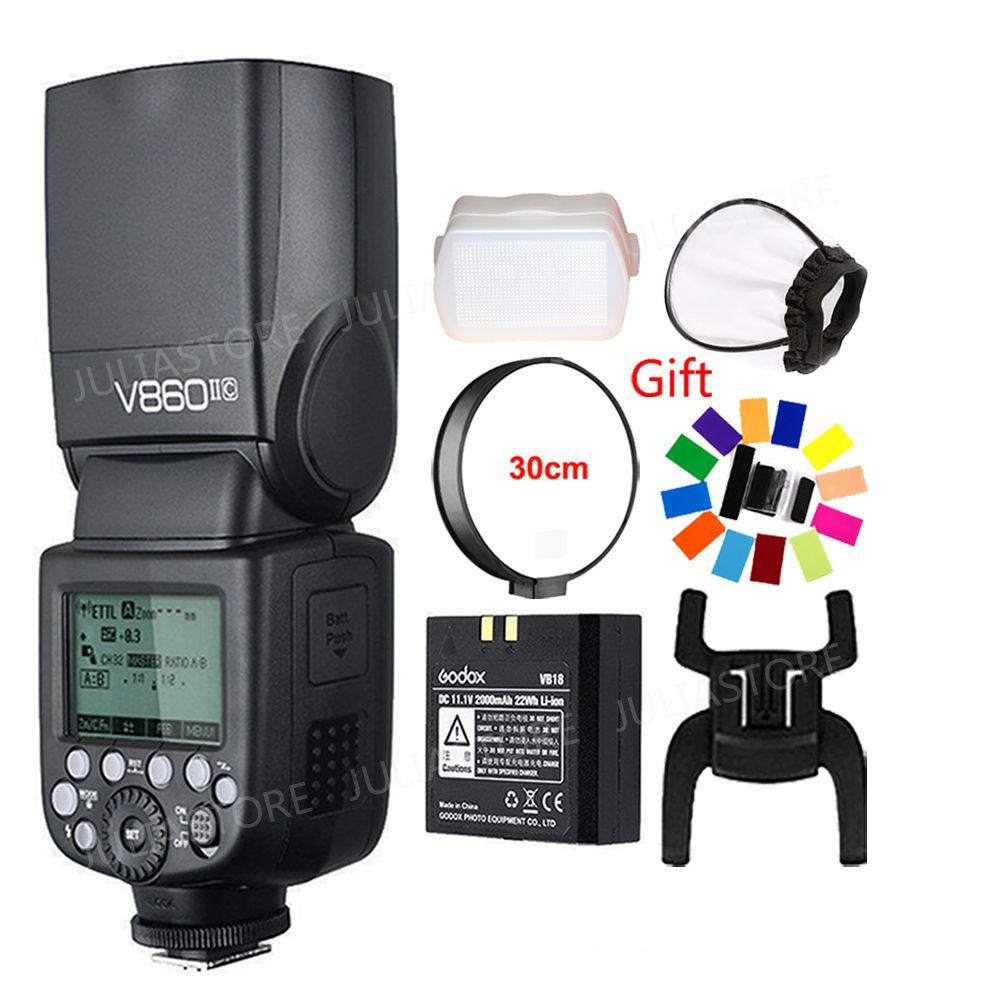 Godox Ving V860II V860II-S/N/C/F/O GN60 E-TTL HSS 1/8000 Li-ion Battery Speedlite Flash for Sony Nikon Canon Olympus Fujifilm
