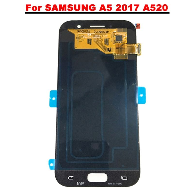 New Super AMOLED LCD A5 2017 A520 A520F SM-A520F Display 100% Tested Working Touch Screen Assembly For Samsung Galaxy a520 lcd