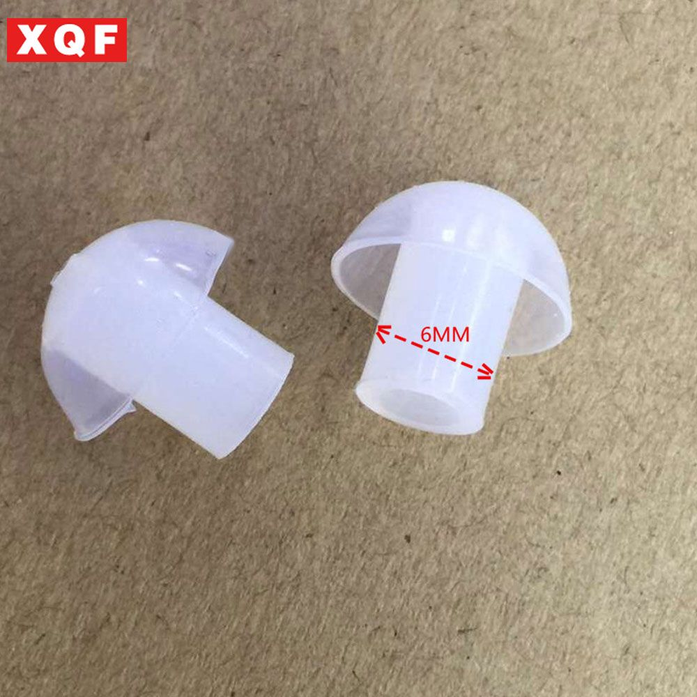 XQF 50 PCS replacement Silicone Earbud ear tips for baofeng two way radio acoustic tube earphone earpiece air tube headset