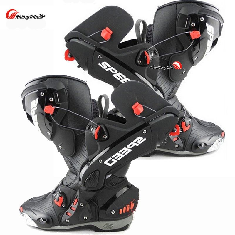 Upgrade Motorcycle Boots Pro Racing Opening Boot Professional Riding Non-slip Mircrofiber Leather Motorbike boots boats