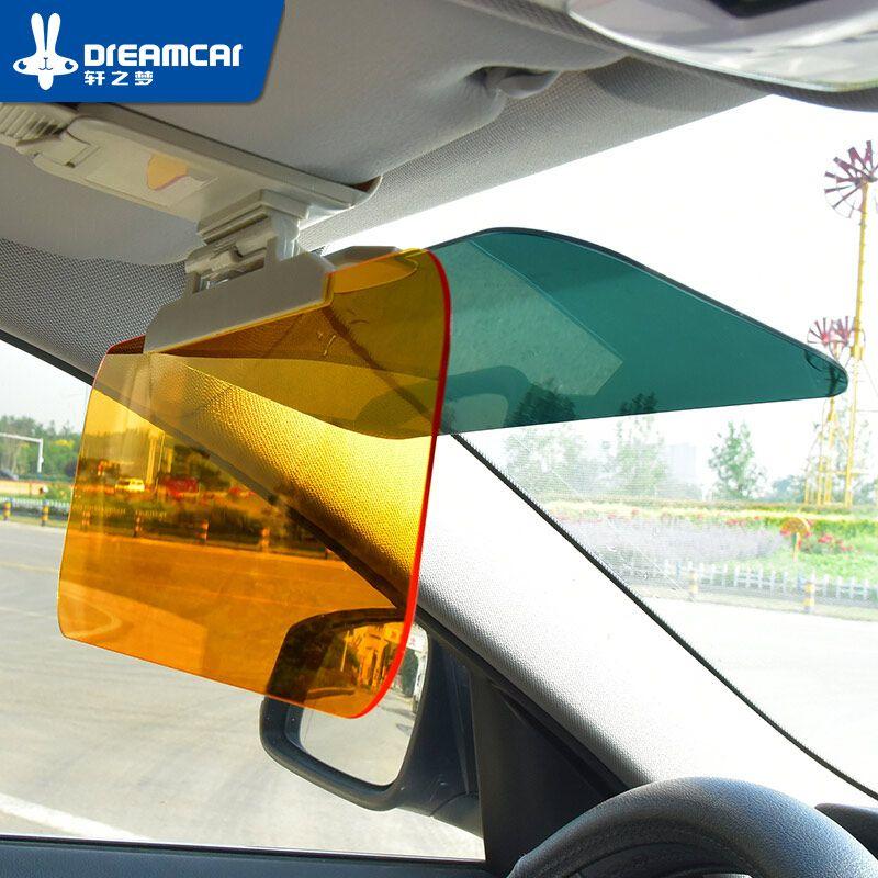 Fenêtre feuille voiture pare-soleil lunettes voiture pare-soleil bouclier Flip voiture fenêtre pare-soleil prévenir éblouissement miroir pour jour et nuit