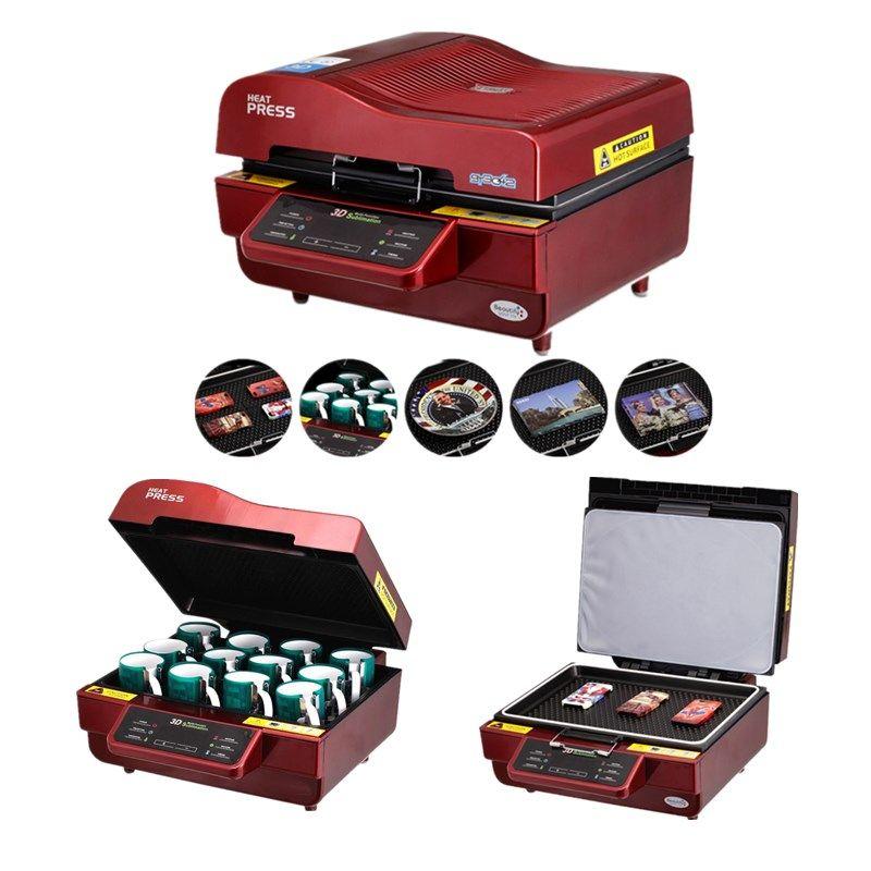 ST-3042 3D Sublimation Wärme Drücken Drucker 3D Vakuum Hitze Presse Maschine für Fällen Tassen Teller Gläser