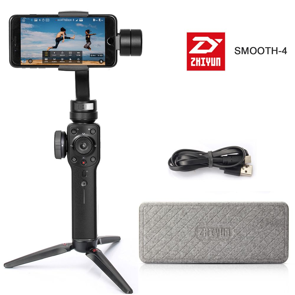 ZHIYUN smooth 4 smartphone Handheld 3-Axis Gimbal Portable Stabilizer for Smartphone iPhone Camera Gimbal zhi yun