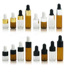 10x1 ml 2 ml 3 ml 5 ml Mini Vide Flacon compte-gouttes Portable Aromathérapie Esstenial Bouteille D'huile avec Glass Eye Dropper