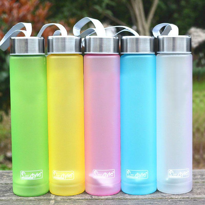 Мути Цвета Портативный велосипед Спорт Путешествия ломкий Пластик бутылка для воды Велоспорт кемпинг бутылка