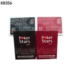 2 Sets/Lot Texas Hold'em Plastic playing card game poker cards Waterproof and dull polish poker star Board games K8356