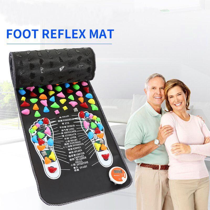 Réflexologie pierre pied acupression tapis de Massage soulagement de la douleur pieds marche masseur marche pierre pied tapis de Massage Pad pied Spa masseur