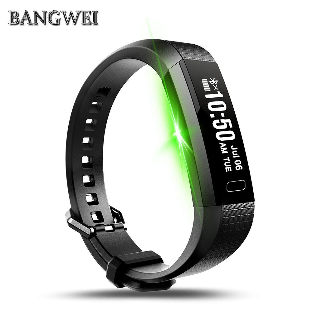 BANGWEI Wristband Blood Pressure Watch Blood Oxygen Heart Rate Monitor Smart Bracelet Pedometer Smart Band VS Xiaomi Mi Band 2