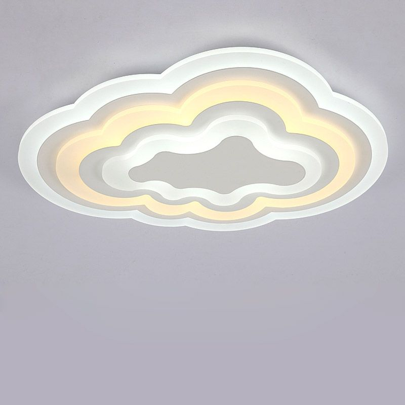 Cloud Ceiling Light Modern Acrylic Led Ceiling Lamp Living Room Bedroom Kitchen Decor Home Lighting White Iron Fixtures 110-220V