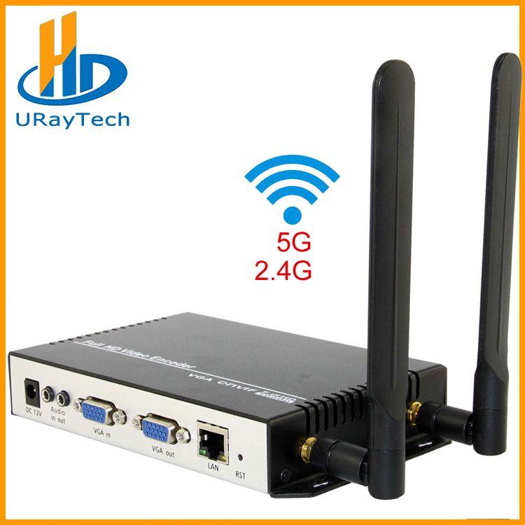 URay Drahtlose H.264 VGA + Stereo Audio Zu IP Stream Encoder IPTV Live-Streaming Encoder WiFi Mit HTTP, RTSP, RTMP, UDP, ONVIF
