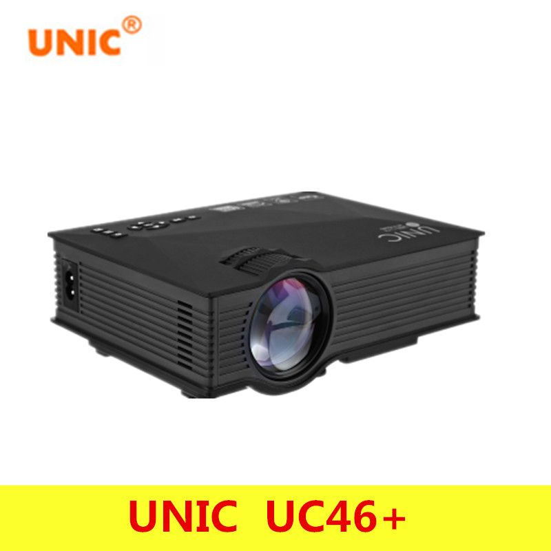Original UNIC UC46+ Wireless WIFI Mini Portable Projector 1200 Lumen Full LED Video Home Cinema Projectors Business HDMI Beamer
