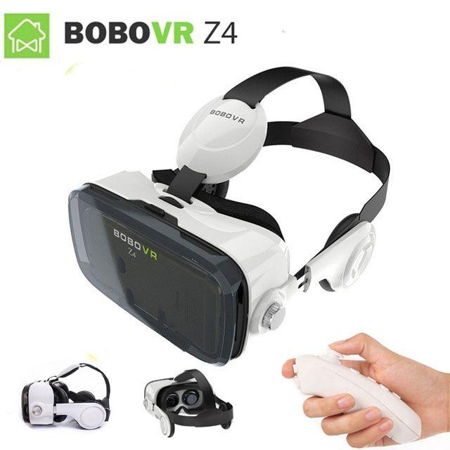 2017 XiaoZhai bobo vr z4 VR BOÎTE 2 La Réalité Virtuelle 3D Lunettes VR Casque écouteurs film pour Google cardboad Bluetooth contrôleur