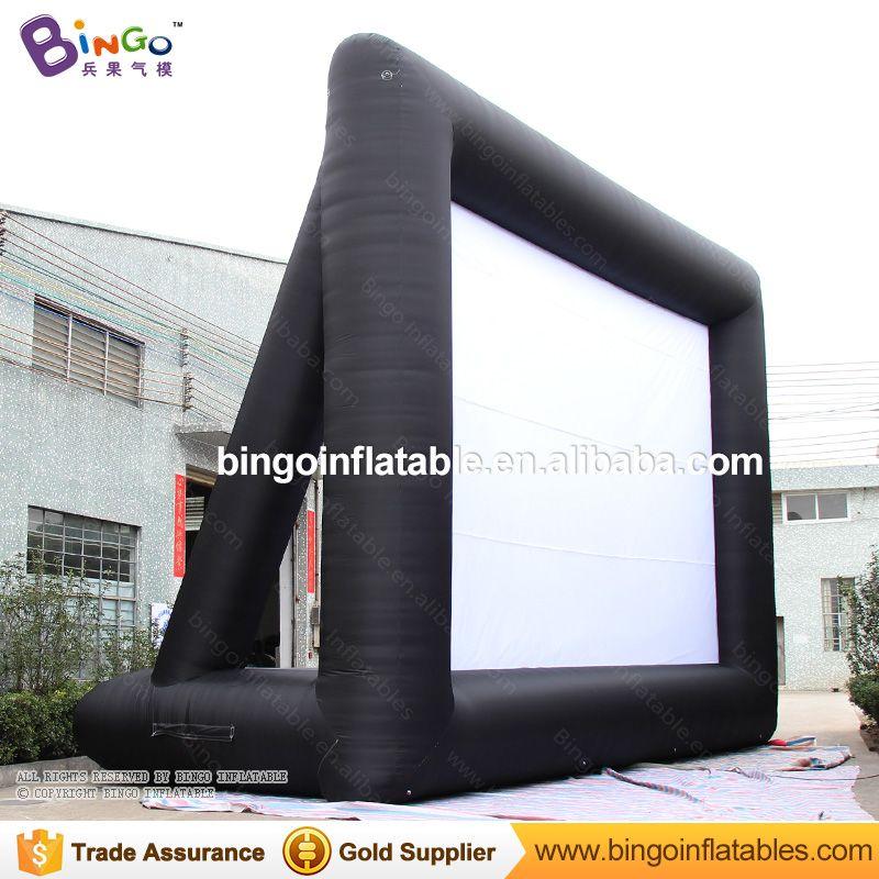 Freies Lieferung 9 M lange angepasst riesigen aufblasbaren film film projektion bildschirm für spielzeug zelt
