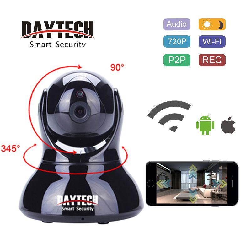 DAYTECH IP Caméra WiFi 720 p HD Sans Fil Caméra de Sécurité Audio Bidirectionnel de Vision Nocturne IR Wi-Fi Réseau Moniteur P2P cam