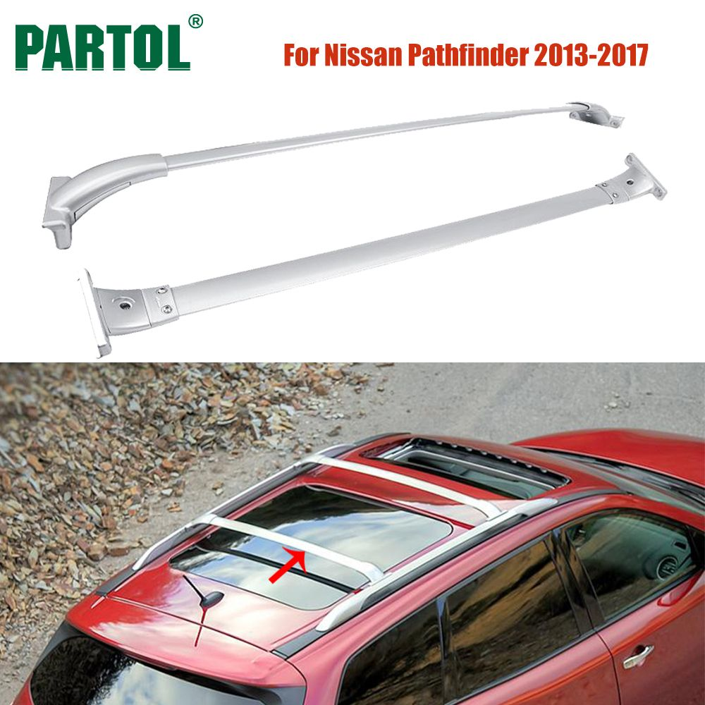 Partol 2 шт./компл. крыше автомобиля Стойки поперечные ригелей комплект 68 кг 150lbs брюки-карго Чемодан сноуборд Перевозчик Топ для Nissan pathfinder