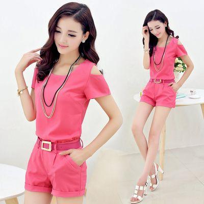 2017new kostenloser versand frauen sommer neue mode Weiblichen kurzen anzug atmungsaktivem hochwertigen freizeit frauen rosa anzug