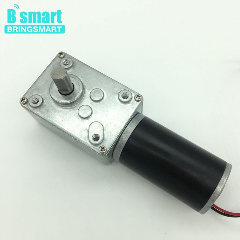 Wholesale A58SW31ZY 7-470rpm DC 24v Worm Geared Motor 1.6-70kg.cm High Torque D Shaft 12v Motor Rotating Table Door Self-lock
