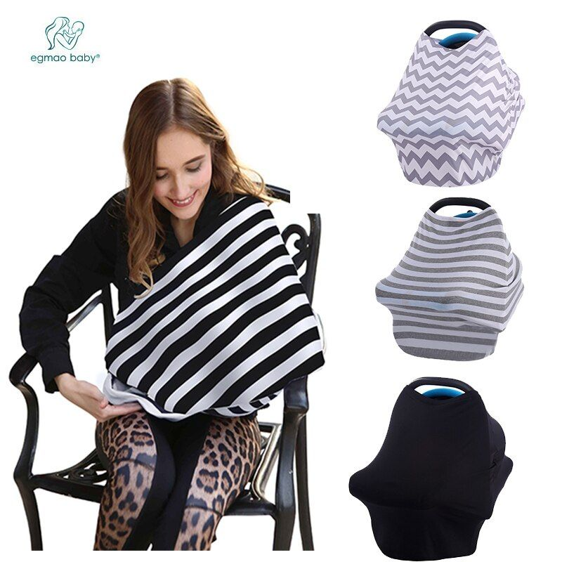 New Arrival Super Soft Nursing Cover Breastfeeding Scarf Baby Car Seat Cover Canopy for 0-3 Years Babies Nursing Cover