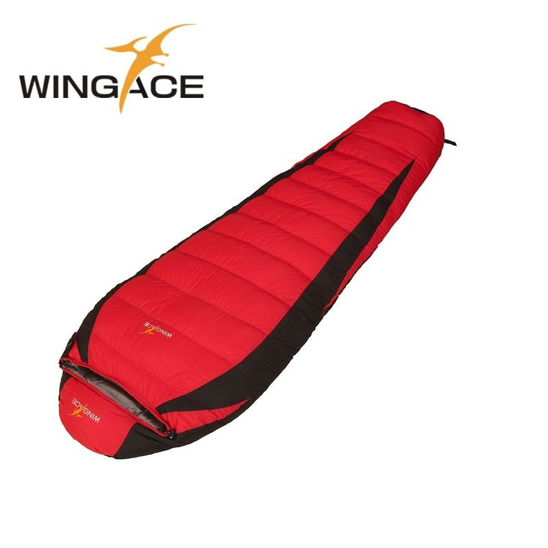 WINGACE Füllen 1000G Unten Camping Schlafsack Erwachsene Winter Herbst Mummy Ultraleichtflugzeuge Daunenschlafsack Für Touristen Outdoor