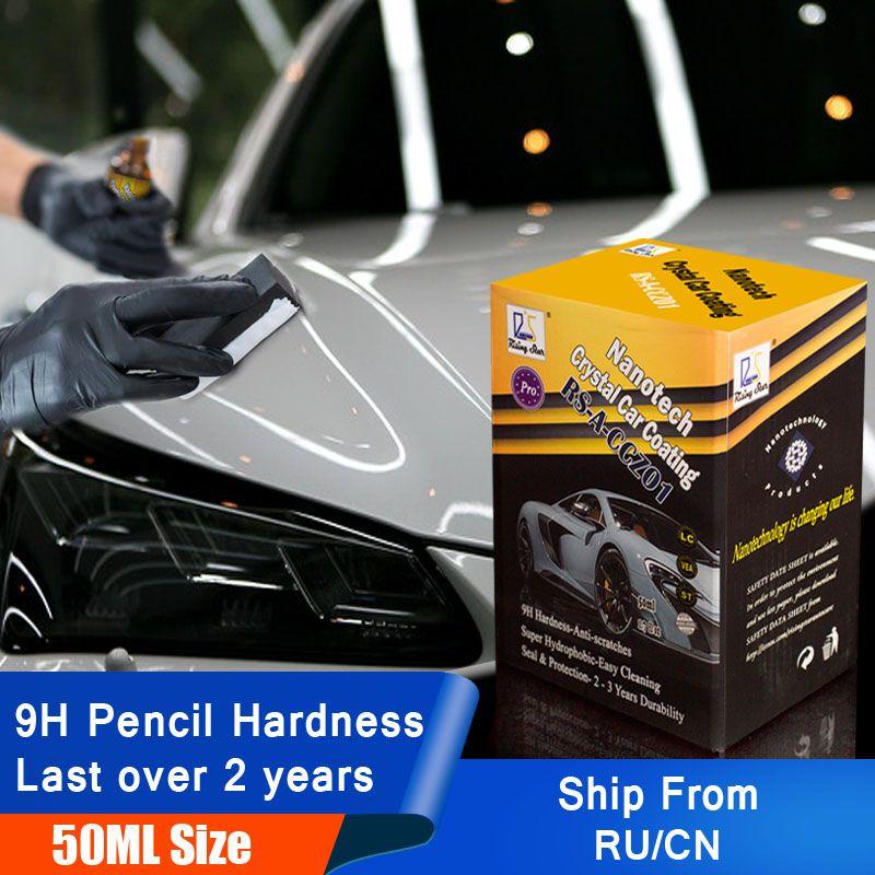 Étoile montante RS-A-CCZ01 verre liquide Nano céramique revêtement de soin de voiture cristal hydrophobe revêtement de voiture Kit 50 ml pour les professionnels