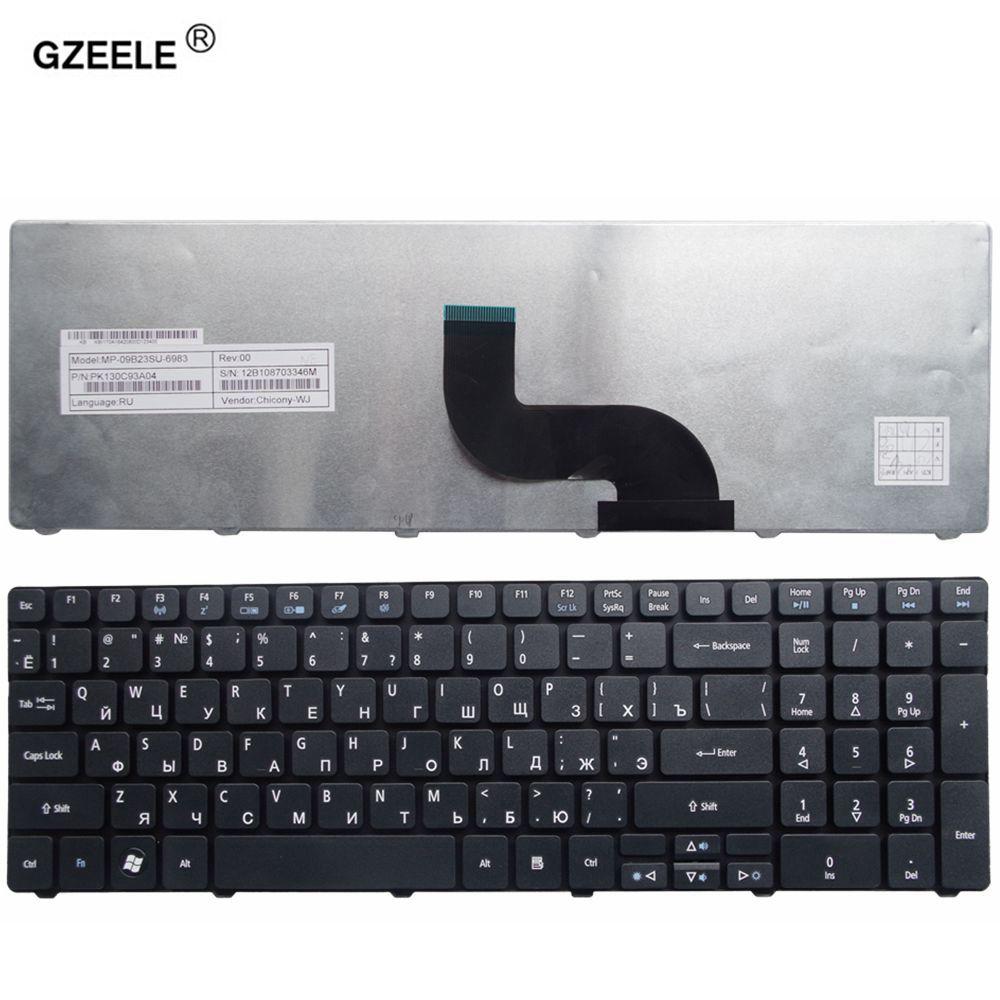 GZEELE NEUE Tastatur für Acer PK130C91104 V104702AS3 NSK-AUB0R MP-09B23SU-6983 PK130C94A00 PK130C91100 Laptop-tastatur RU RUSSISCHE