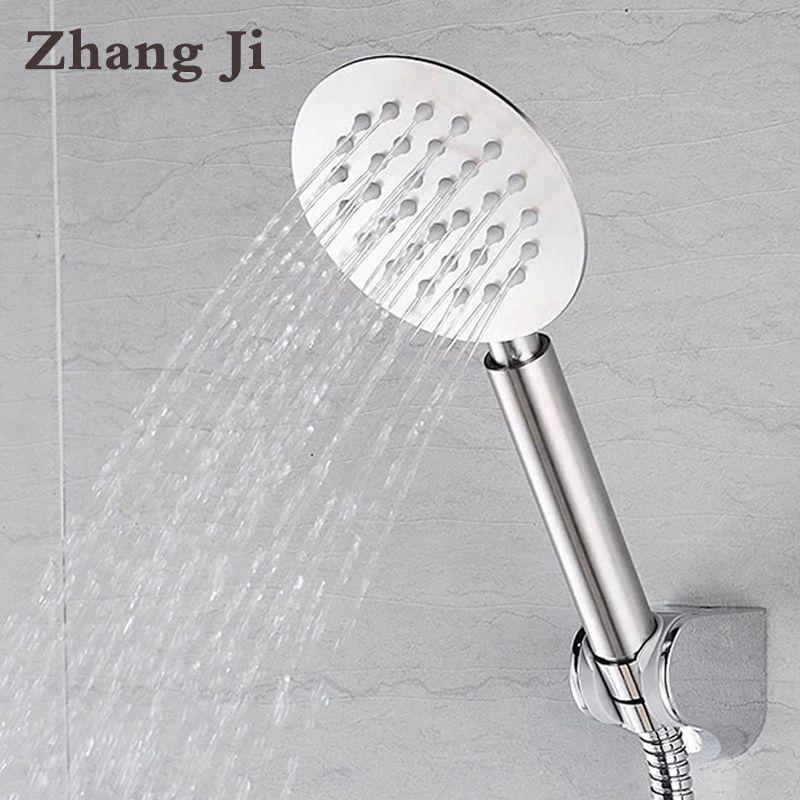 High Quality Whole Stainless Steel Ultrathin 10cm Big Hand Shower Head Water Saving Nozzle Sprayer Rainfall Shower Head ZJ056