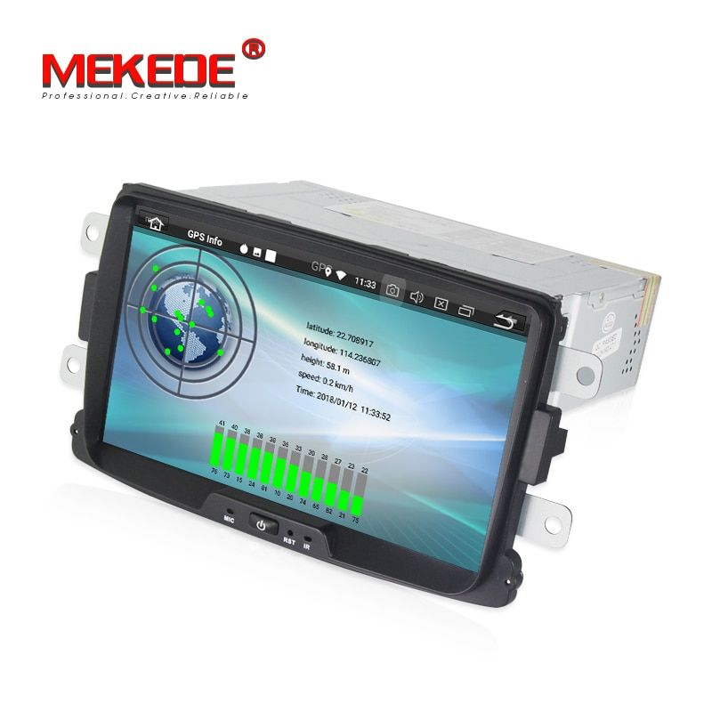 RK3688 Android8.0 Car stereo player for Dacia Renault Duster Logan Sandero with Gps Navigation System Octa core 4GB RAM 4G LTE