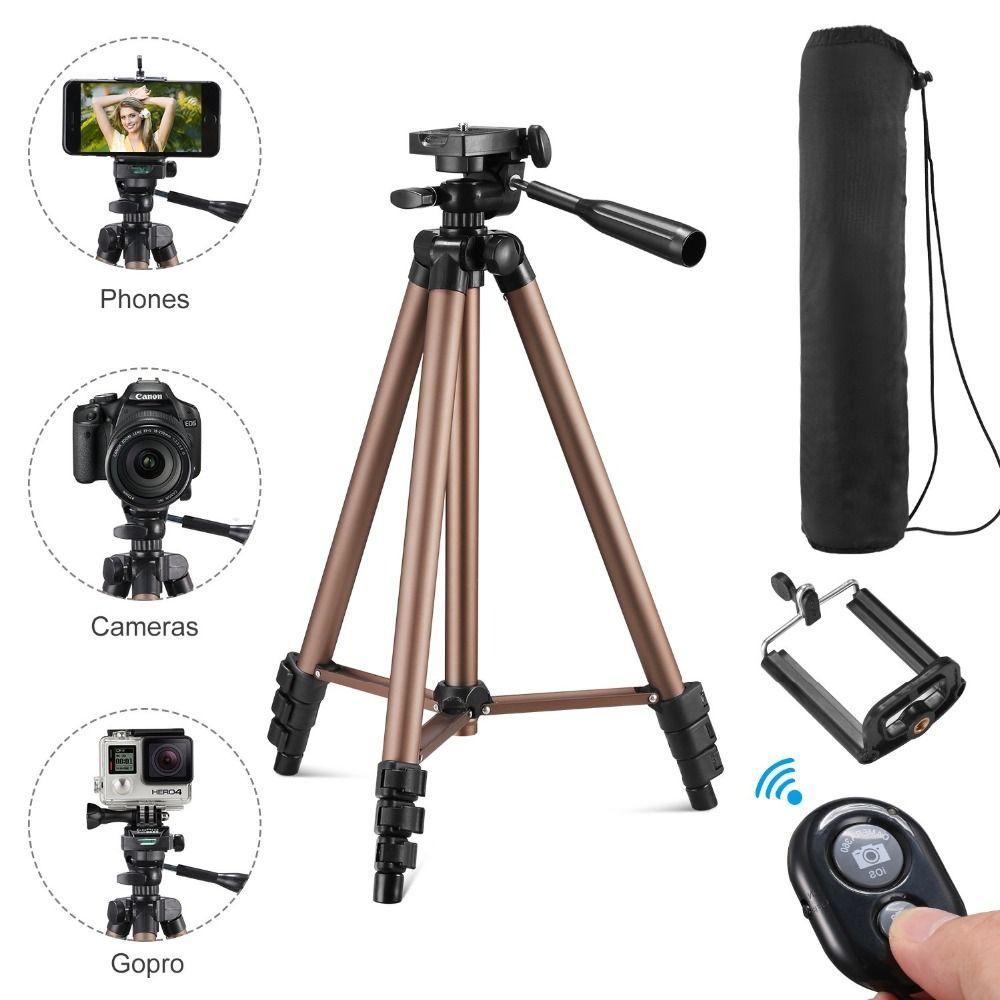 Trépied pour téléphone avec télécommande support trépied pour téléphone bluetooth et caméra smartphone trépieds cam dslr mount