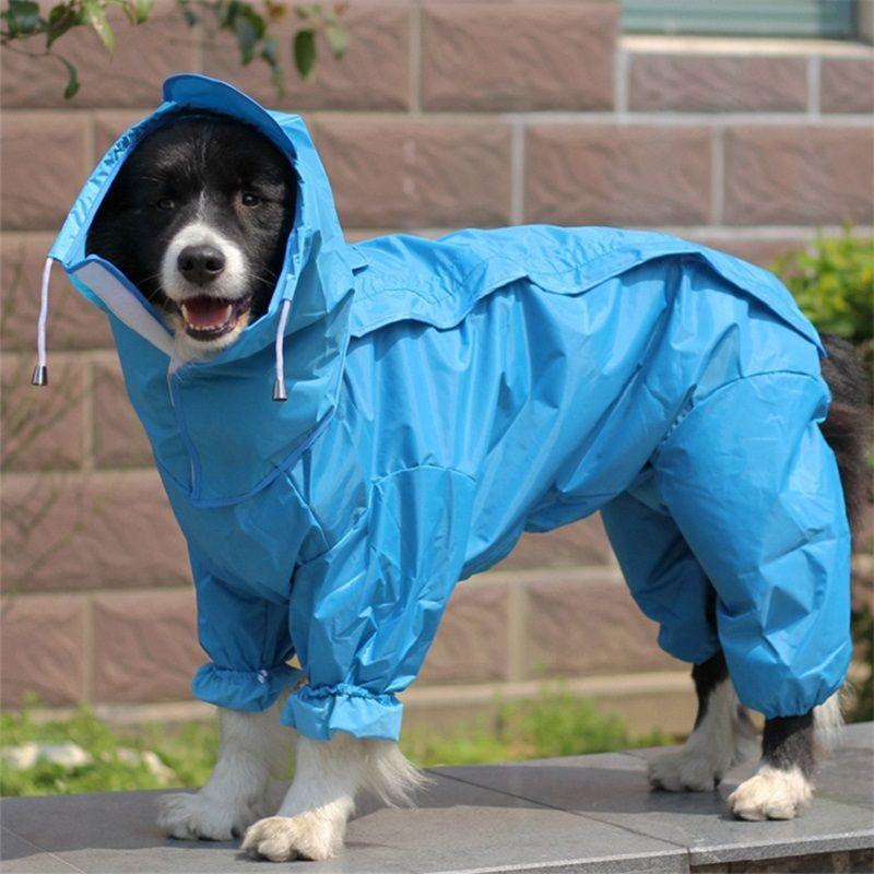 Grand chien imperméable vêtements imperméable combinaison de pluie pour les grands chiens moyens petits chiens Golden Retriever extérieur Pet vêtements manteau WLYANG