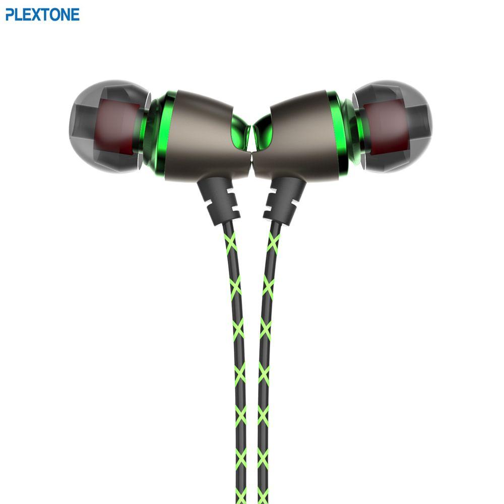 PLEXTONE X50M écouteurs intra-auriculaires Sport magnétique stéréo suppression du bruit casque basse 3.5mm prise avec micro pour Xiaomi Iphone Samsung