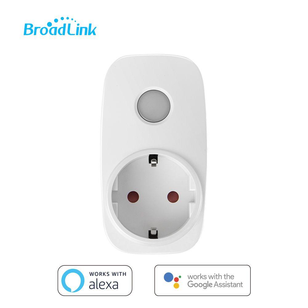 Prise Wifi Broadlink SP3 prise Contros à distance minuterie prise intelligente Compatible Alexa Google Assistant maison Mini pour Xiaomi Android IOS