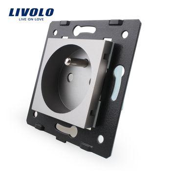 Fabricant, Livolo Gris En Plastique Matériaux, standard de L'UE, fonction Clé Pour Français Socket, VL-C7-C1FR-15