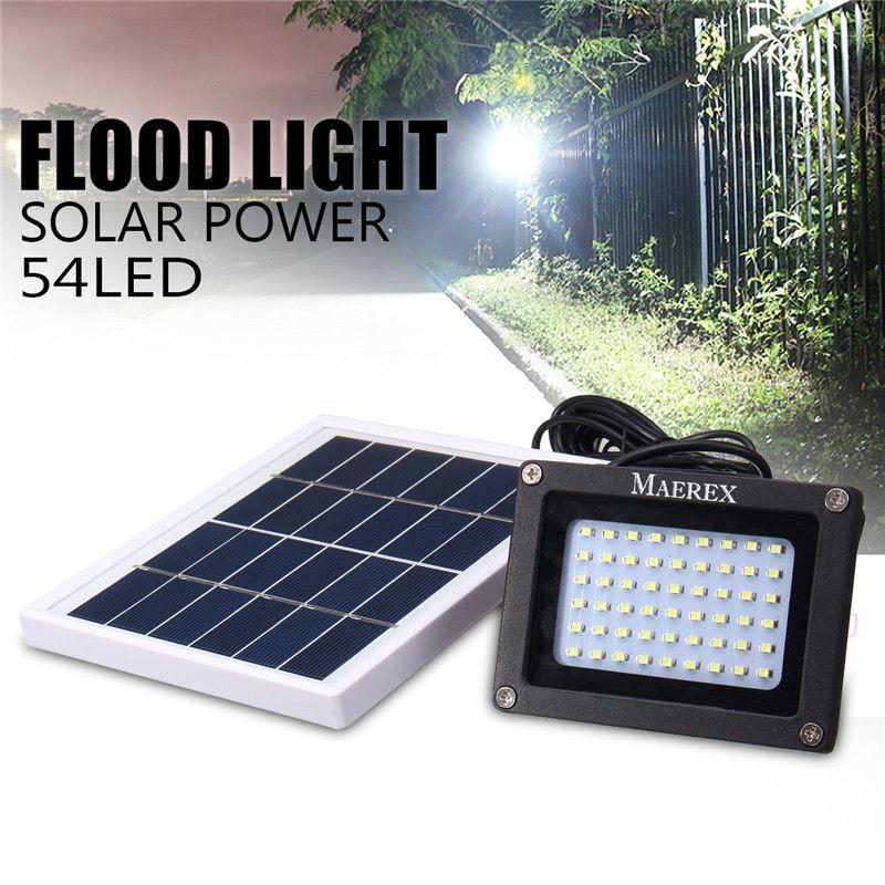 Mising Solar 54 LEDs Dark Sensor Solar Light Solar Lamp Light Spotlight Wall Lamps Floodlight Outdoor Emergency Flood Light