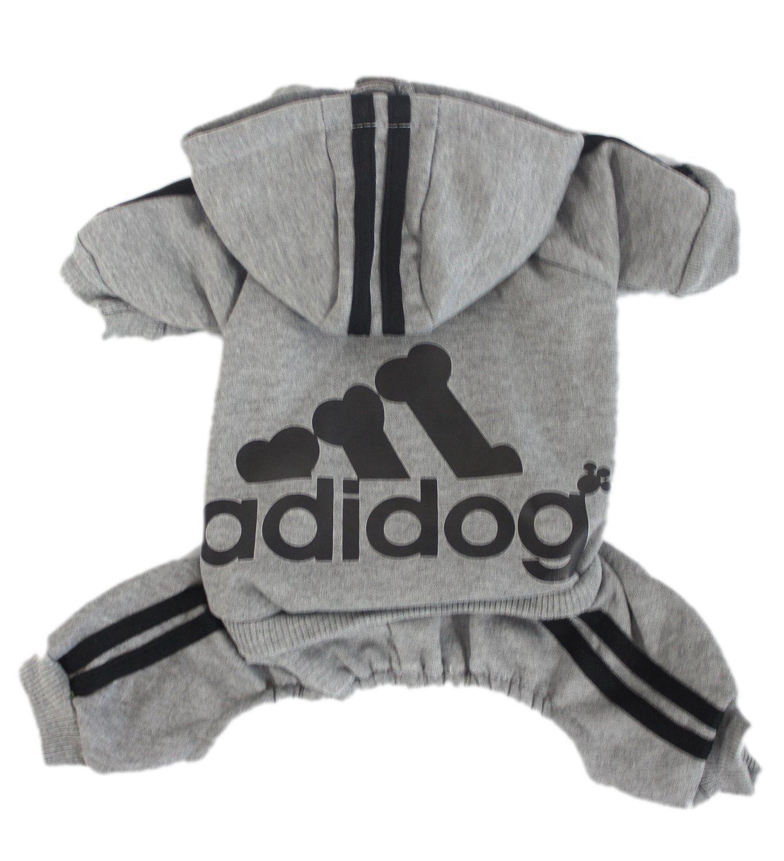 Scheppend Adidog Haustier Kleidung für Hund Katze Welpen Hoodies Mantel Winter Sweatshirt Warme Pullover