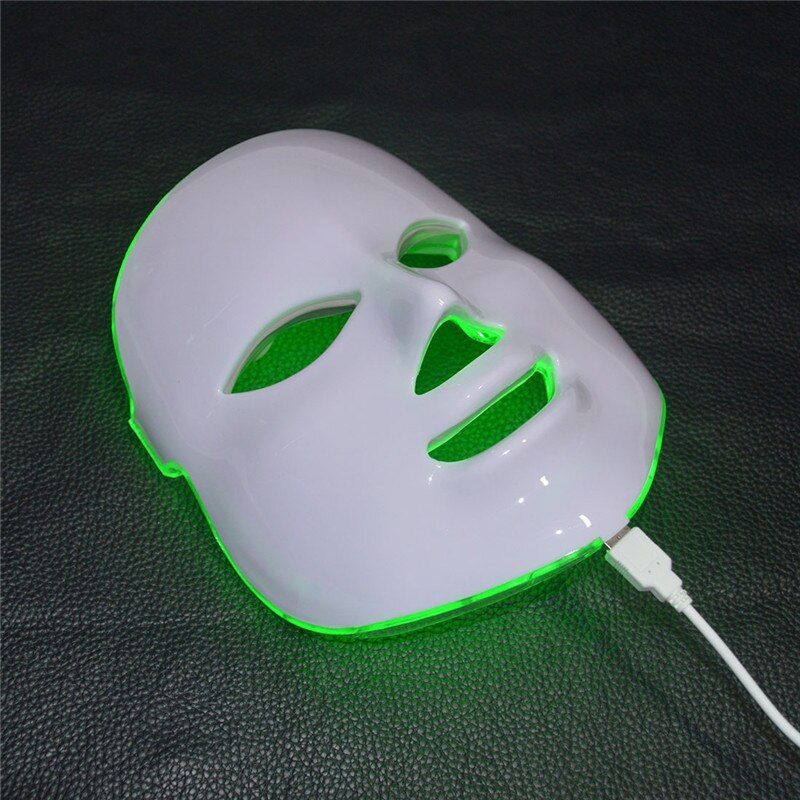 7 Colors Beauty Therapy Photon LED Facial Mask Light Skin <font><b>Care</b></font> Rejuvenation Wrinkle Acne Removal Face Beauty Spa Instrument 30