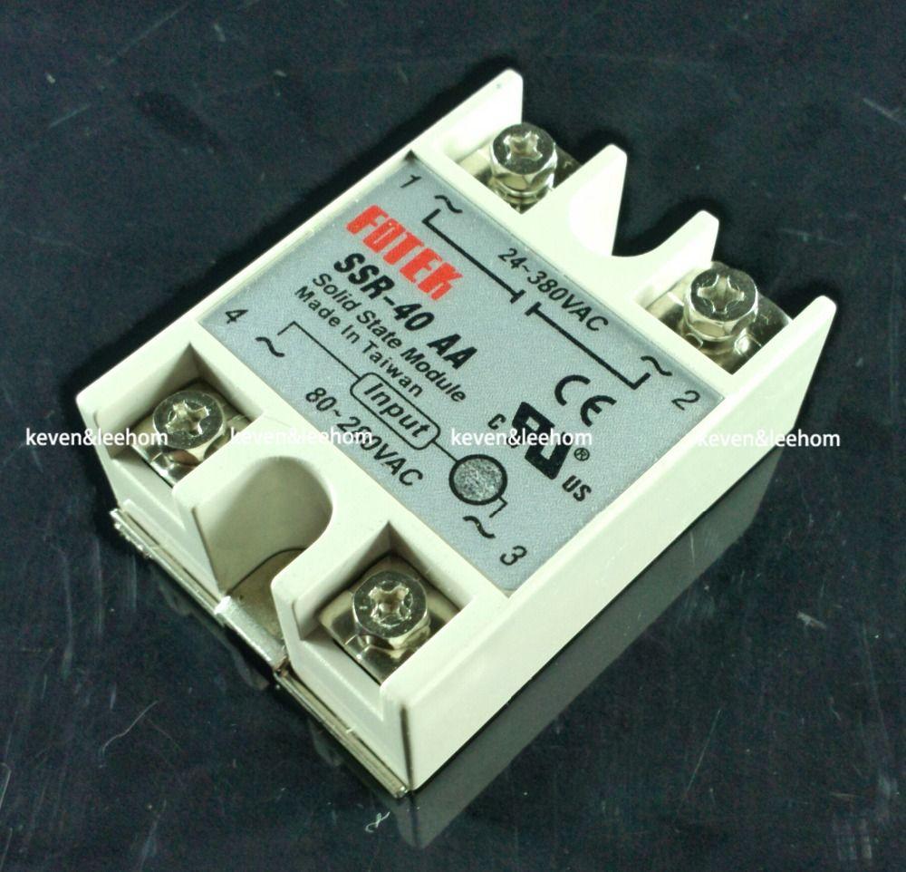 Solid state relais SSR-40AA 40A tatsächlich 80-250 v AC ZU 24-380 v AC SSR 40AA relais solid state