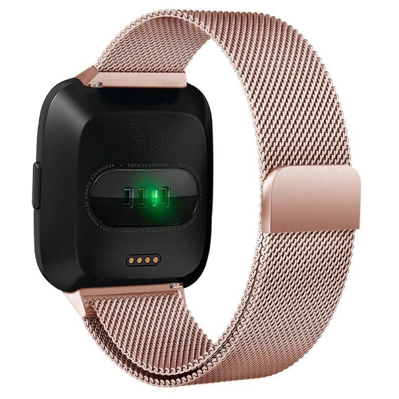 Milanese Magnetschleife Edelstahl Band Für Fitbit Versa Gold Uhr 5,5-6,7 zoll Dropshipping Armbanduhren Mar 21