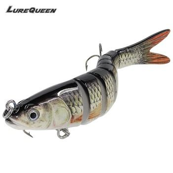 13cm 26g Sinking Wobblers 8 Segments Fishing Lures Multi Jointed Swimbait Hard Bait Fishing Tackle For Bass Isca Crankbait