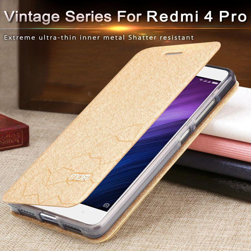 xiaomi redmi 4 pro case cover silicone luxury flip leather thin redmi 4 pro prime mofi 2GB redmi 4 case xiaomi redmi 4 pro case