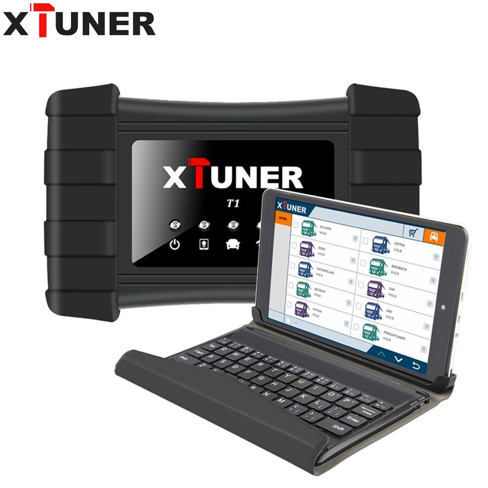 XTUNER T1 V9.3 HD Heavy Duty Lkw Auto Diagnose Werkzeug Mit Airbag ABS DPF EGR Reset + 8' WIN10 Tablet OBD 2 autoscaner werkzeug