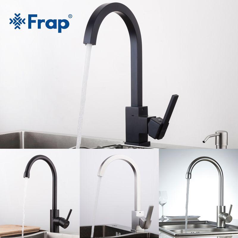 FRAP nouveauté eau chaude et froide cuisine évier robinet espace aluminium eau mélangeur robinet 360 degrés Rotation YF40010